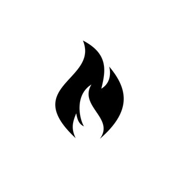 Fire icon vector. Fire flame icon template. Fire flames symbol vector sign isolated on white background.