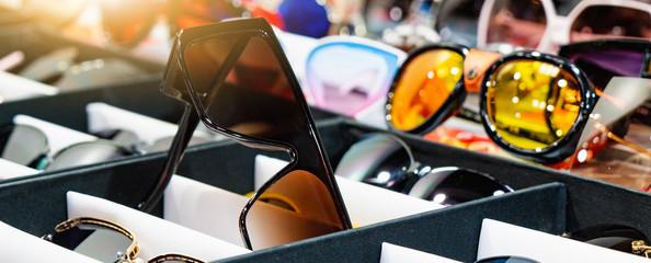 Sunglasses store showcase