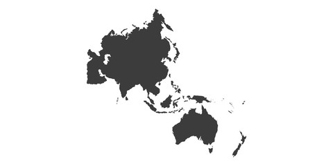 Map of Asia Pacific. - Vector illustration Wall mural