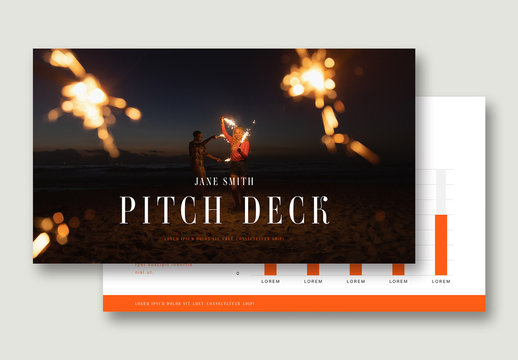 Pitch Deck Layout with Orange Accents