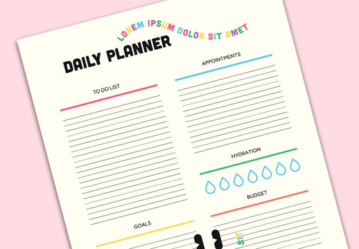 Colorful Planner Layout
