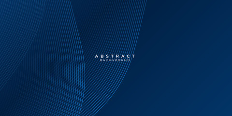 Fototapeten Abstrakte Welle Abstract blue background with wave water circle spiral light texture. Vector illustration for presentation design with modern futuristic corporate and technology concept