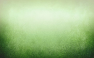 Wall Mural - Green gradient background with soft blurry texture and white center and dark border grunge