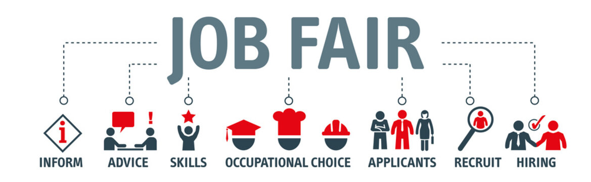 Job fair vector illustration concept