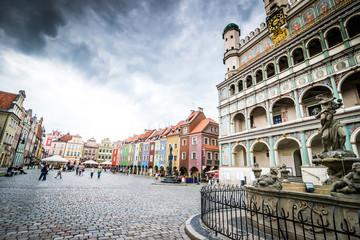 Papiers peints Europe de l Est Central Market Square in Poznan, Poland