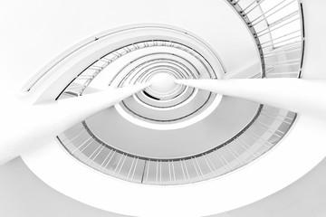 Foto op Aluminium Spiraal Treppenhaus Abstrakt spiral