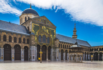 Exterior of Omayad mosque in ancient City of Damascus (Syrian Arab Republic)