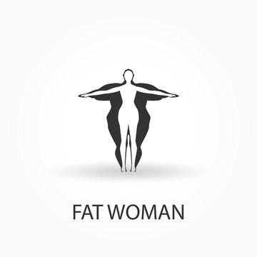 fat woman icon