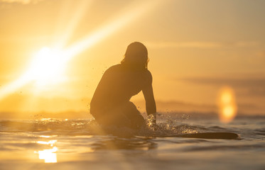 Surfing the sunrise in Costa Rica