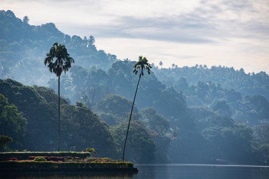 the lake in Kandy in central Sri Lanka