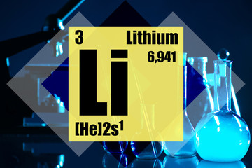 The chemical element is lithium. Application of lithium salts in medicine. Properties of lithium compounds. Use in the textile and food industries. Element of the periodic table with atomic number 3.