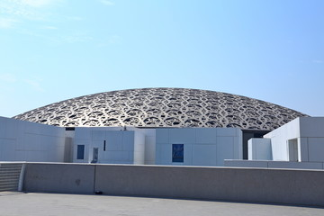 Foto auf Acrylglas Abu Dhabi Louvre Abu Dhabi, a new landmark of Abu Dhabi, the famous museum of the French architect Jean Nouvel