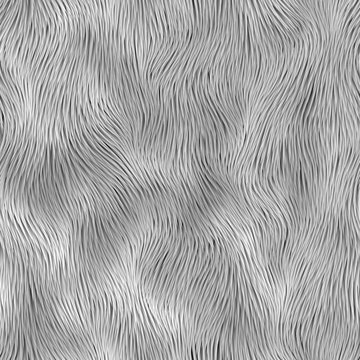 Abstract gray fur pattern. Vector seamless background