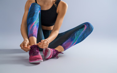athletes foot close-up. Wall mural
