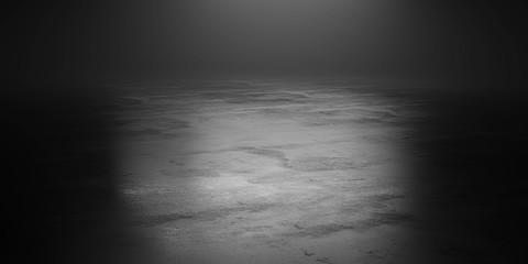 dark underground industrial grunge basement room with low key light background texture 3d render illustration Fototapete