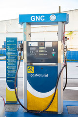 Fotobehang Luchthaven Image of a compressed natural gas (CNG) dispenser.