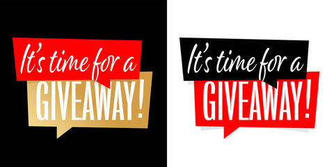 It's time for a giveaway !