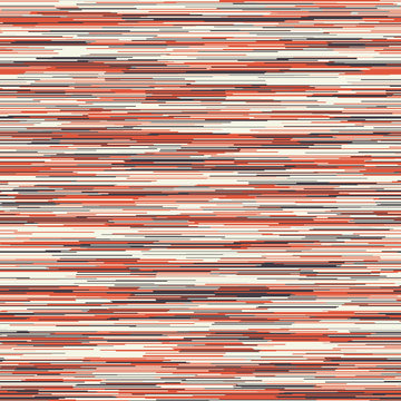 Seamless red grey variegated marl heather texture background. Woven cotton fabric with blotched striped T Shirt style. Abstract camo vector pattern design.  Mottled melange space dye textile effect