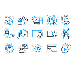 Cyber security icons.