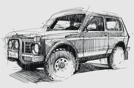 Geländewagen Sketch