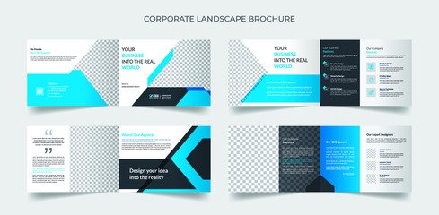 Fotorollo Weiß Corporate landscape brochure template