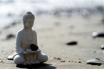 Photo sur Plexiglas Buddha buddha statue in calm rest pose