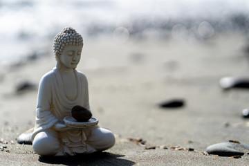 Deurstickers Boeddha buddha statue in calm rest pose