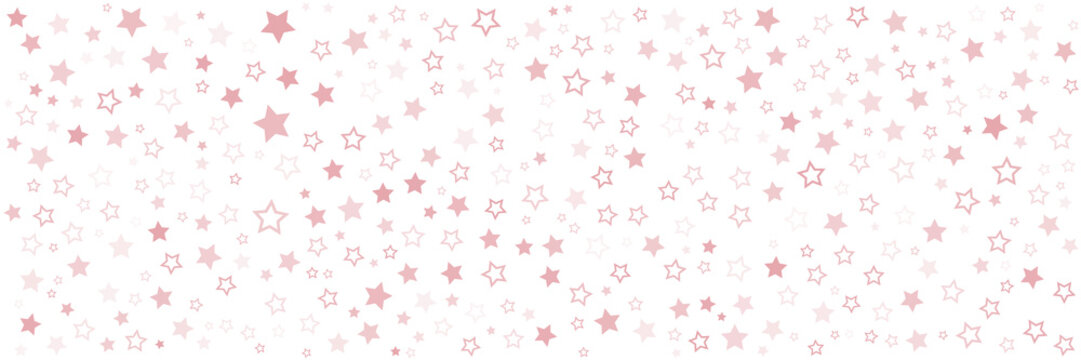 Red star pattern background for wide banner. Vector illustration design for presentation, banner, cover, web, flyer, card, poster, wallpaper, texture, slide, magazine, and powerpoint.