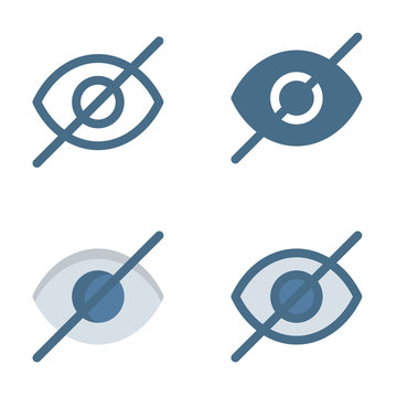 Hide Eye icon in isolated on white background. for your web site design, logo, app, UI. Vector graphics illustration and editable stroke. EPS 10.