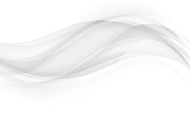 Fototapeta Abstract gray waves - data stream concept. Vector Illustration