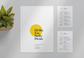 Resume Layout with Circle Element