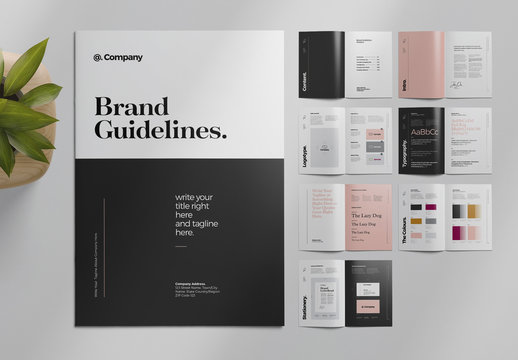 Brand Guideline Layout