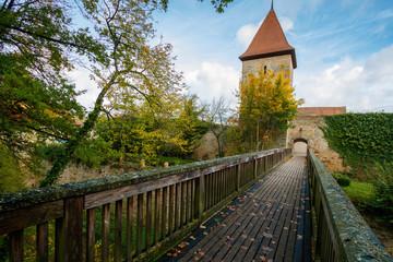 Dinkelsbühl, Alemania Baviera paseando por sus calles