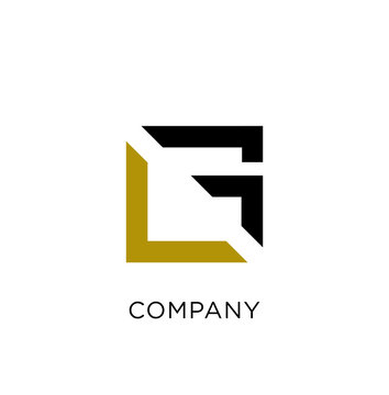 lf,lg abstract business logo