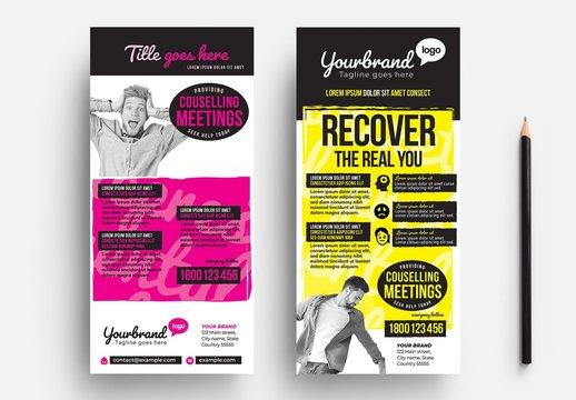 Counselling Service Rack Card Flyer Layout