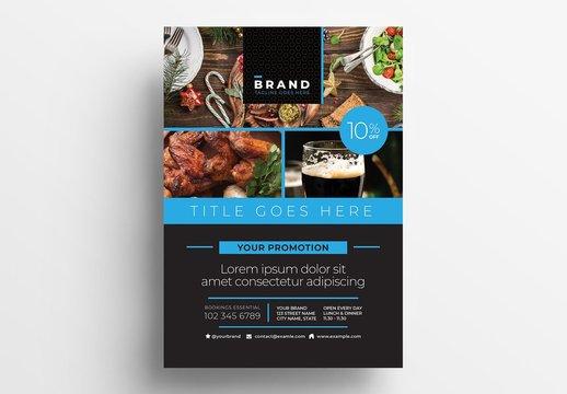 Restaurant Flyer Layout