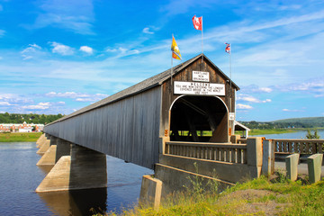 The longest covered bridge in the world in Hartland, NB, Canada