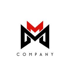 mm logo design vector