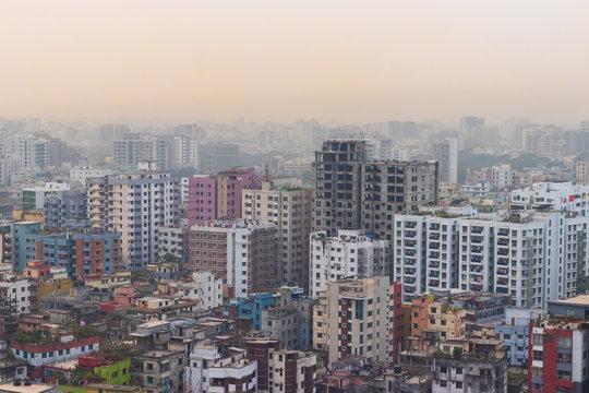Buildings in Dhaka City, Bangladesh