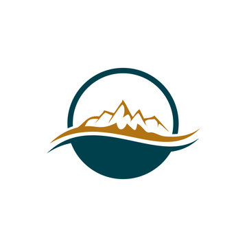 Mountain gold vector for logo wealth management