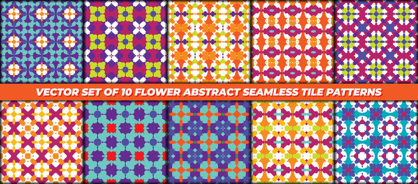 pattern for textile printing, Seamless abstract ornamental vector set
