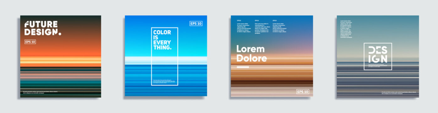 Abstract covers with creative gradients. Eps10 vector.