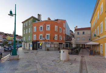 Wall Mural - Street scene in Malj Losinj town, Croatia.