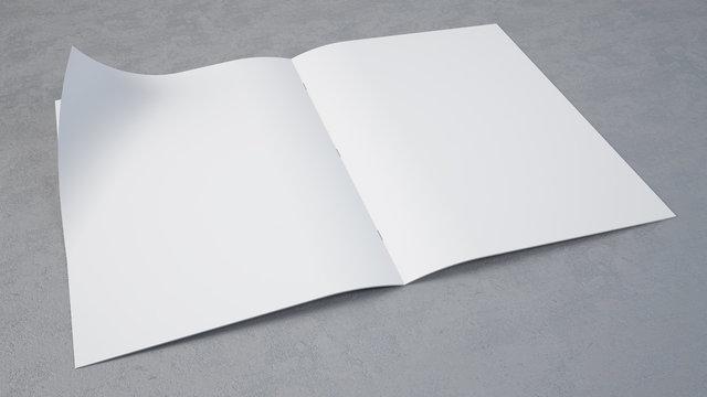 concrete magazine mockup