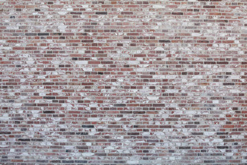 Brick wall with different color bricks
