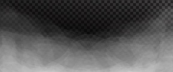 Garden Poster Smoke White fog or smoke isolated on dark transparent background