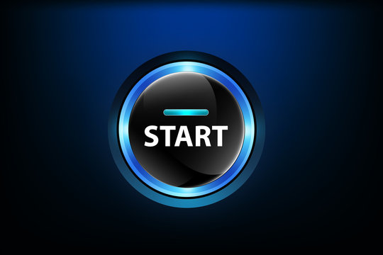 Start button on dark blue background