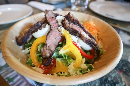 salad or beef salad, beef and vegetable salad
