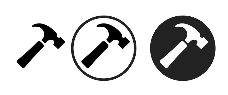hammer icon . web icon set .vector illustration