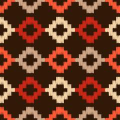 Keuken foto achterwand Pixel Embroidery. Ethnic boho ornament. Hatch. Seamless pattern. Tribal motif. Vector illustration for web design or print.